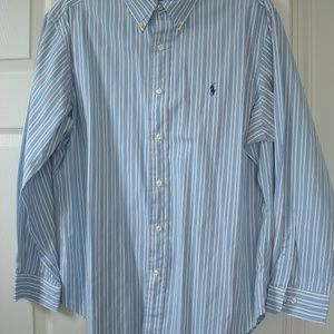 Ralph Lauren Polo Shirt LS Button Down Front Men's